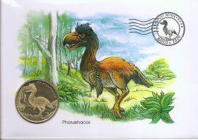 Доисторические животные   Набор 2 монеты  х 5 долларов Остров Биоко (Гвинея) 2020 в конвертах