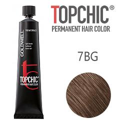 Goldwell Topchic 7BG - Стойкая краска для волос - Блондин бежевый золотистый 60 мл.
