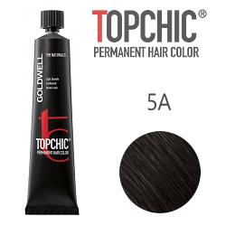 Goldwell Topchic 5A - Стойкая краска для волос - Светлый коричневый пепельный 60 мл.