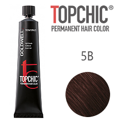 Goldwell Topchic 5B - Стойкая краска для волос - Светлый коричневый бежевый 60 мл.