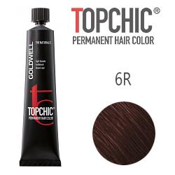 Goldwell Topchic 6R - Стойкая краска для волос - Красный темный русый 60 мл.