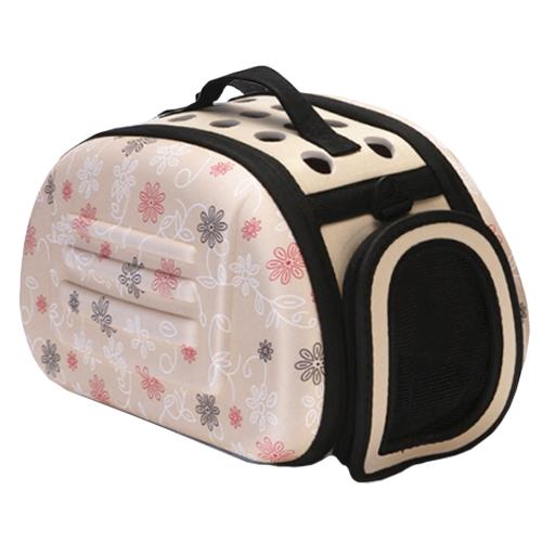 Складная сумка-переноска для животных до 6 кг. Цвет: бежевый.