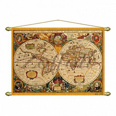 Настенное панно Репродукция старинной карты