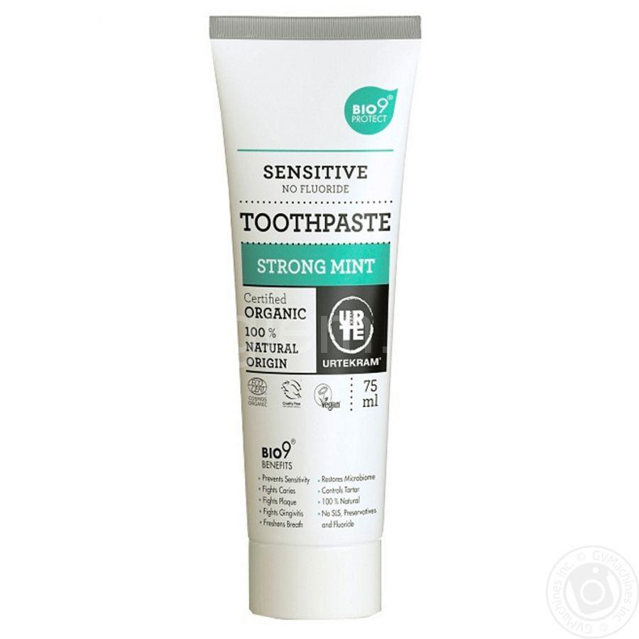 Органическая зубная паста Сильная мята Urtekram, 75мл
