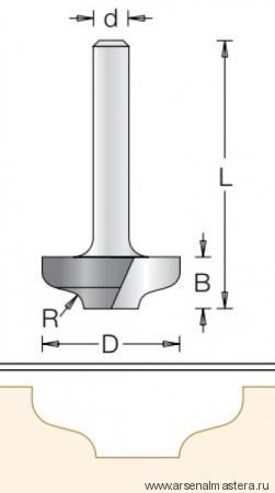 Фреза врезная радиусная DIMAR 35x9.5x59x12 R3.2 1470109