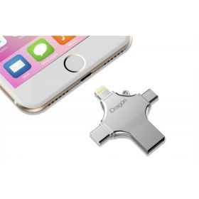 ФЛЕШКА 4 В 1 64GB (LIGHTNING, TYPE-C, MICRO USB, USB