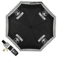 Зонт складной Moschino 8872-OCA Logo Black