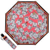 Зонт складной Moschino 8056-OCJ Bear Couture Fuxia multi