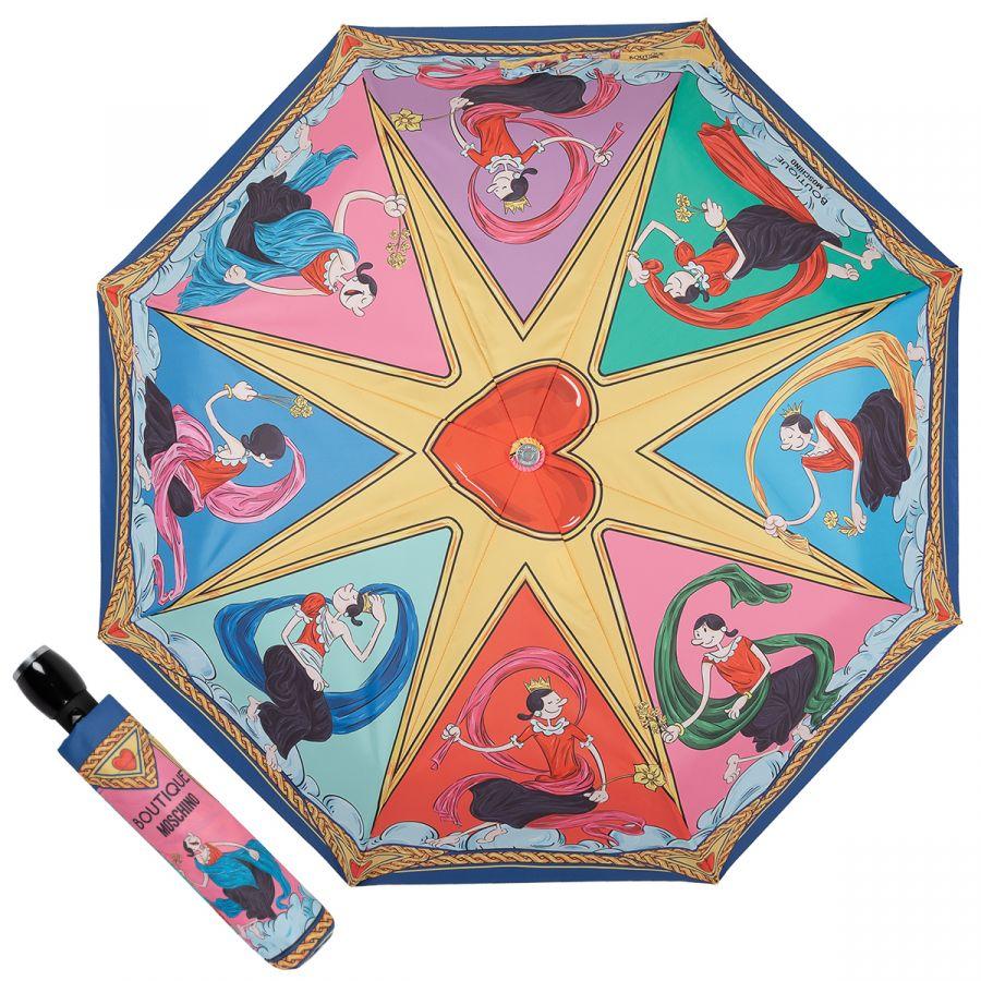 Зонт складной Moschino 7979-OCA Muse Olivia Multi