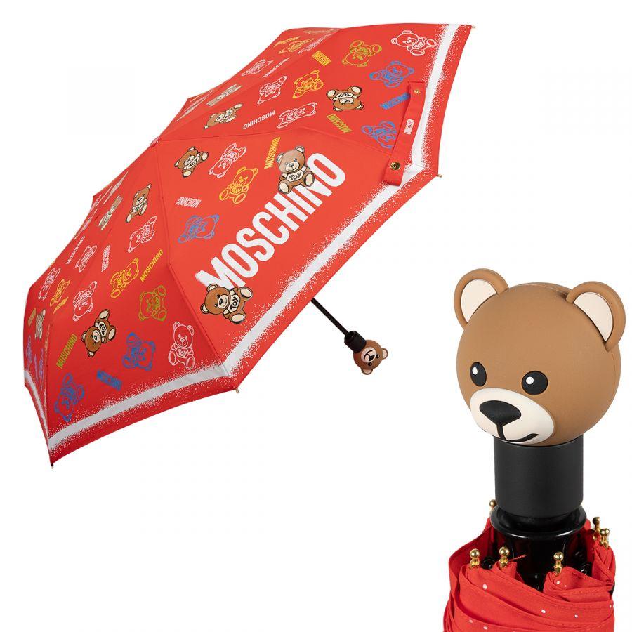 Зонт складной Moschino 8033-OCC Toy Spray Red