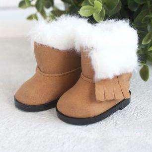 Обувь для кукол - Сапожки угги коричневые на замочке, 5,5 см.
