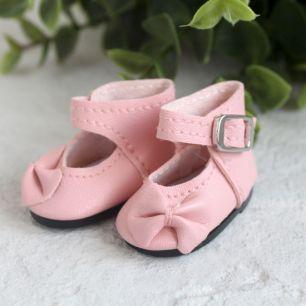 Обувь для кукол - Сандалии высокие с бантиком розовые, 4 см.