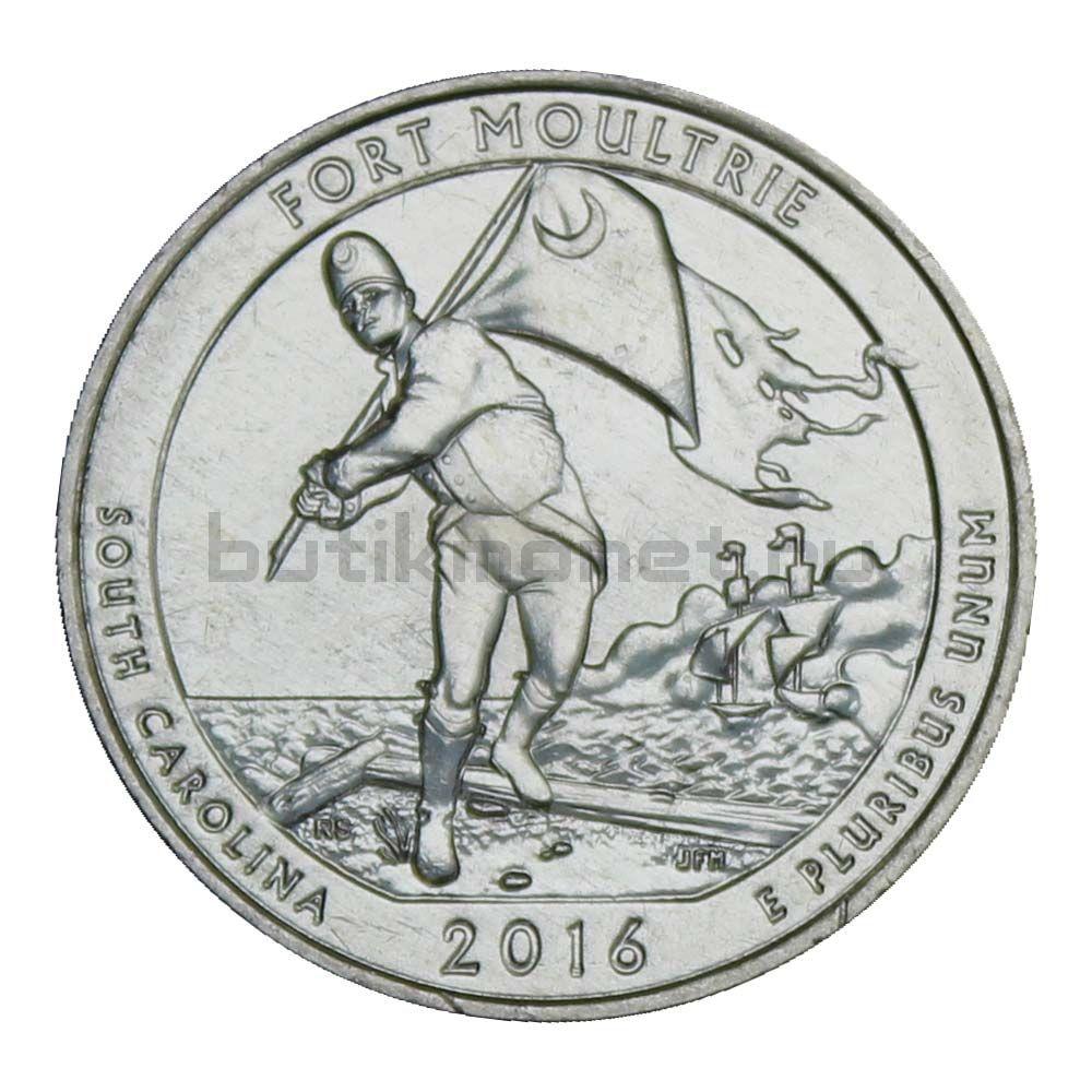 25 центов 2016 США Форт Молтри S