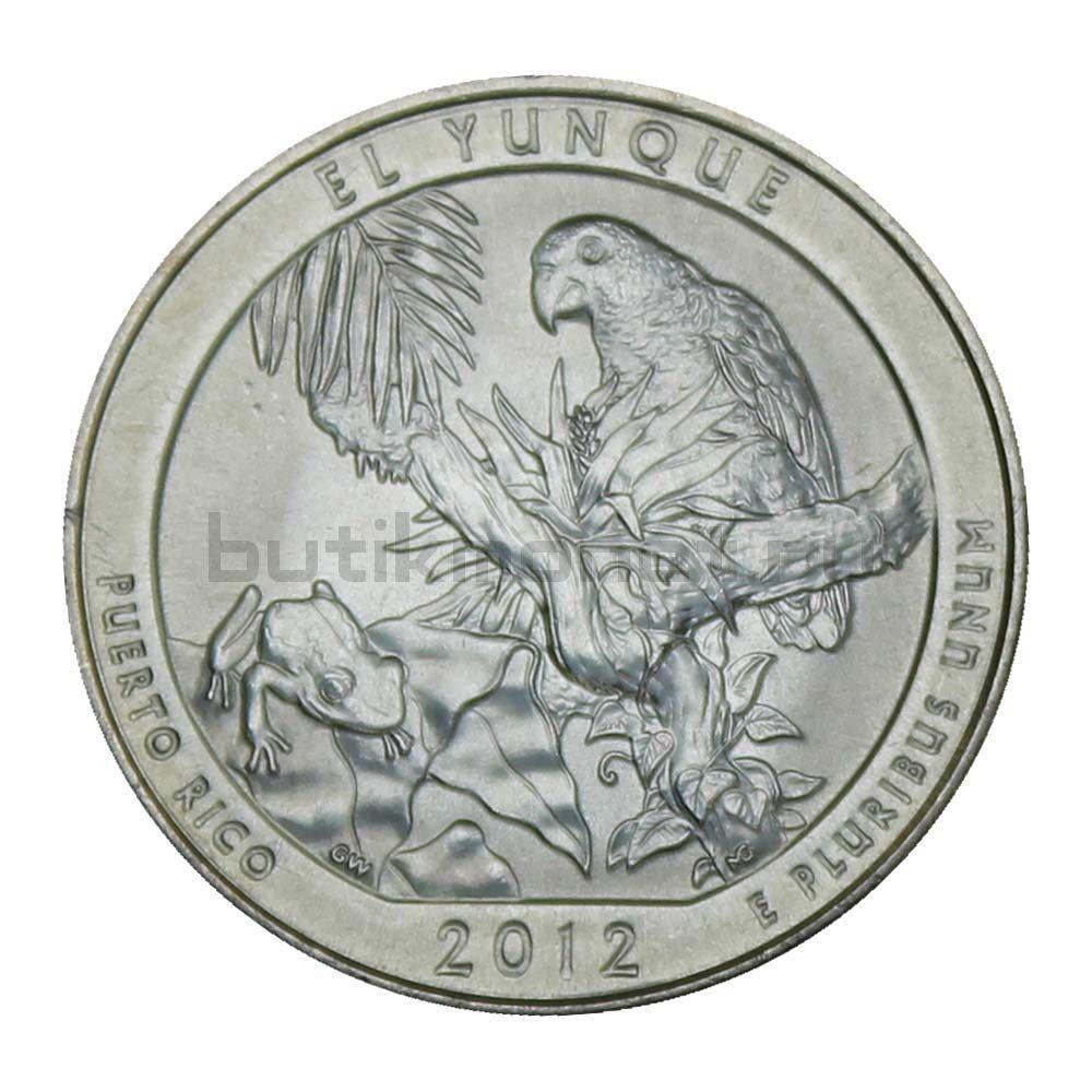 25 центов 2012 США Национальный лес Эль-Юнке D end