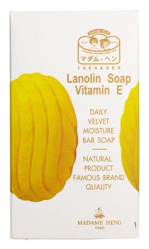 Мыло с ланолином и витамином Е мягкое деликатное  от Мадам Хенг 80 гр