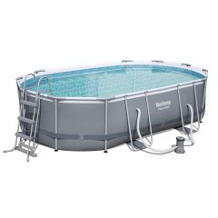 Каркасный бассейн Bestway 56448 Power Steel (488х305х107 см) с картр. фильтром, лестницей и тентом