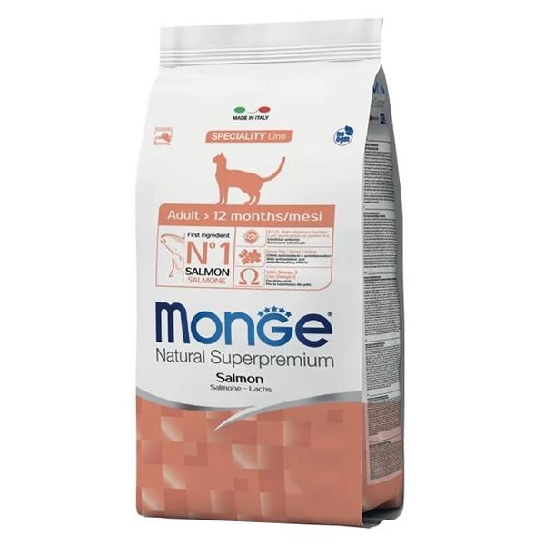 Сухой корм для кошек Monge Natural Superpremium с лососем 1.5 кг