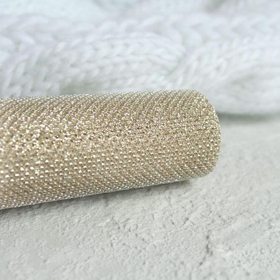 Экокожа для кукольных ботиночек, с блестками, золото 30х20 см.
