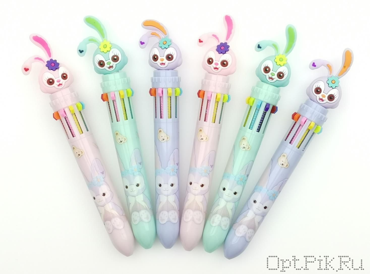 Ручка зайчик 10 цветов