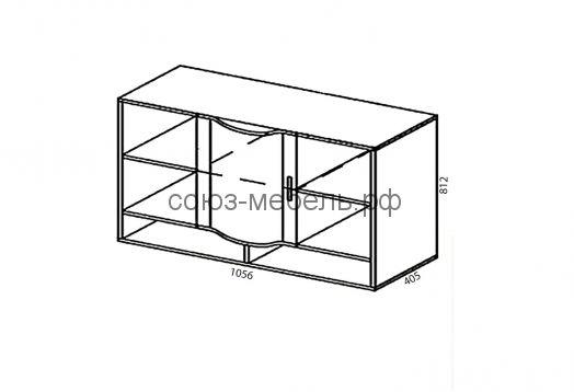 Детская Мозаика (стол СТ-1+шкаф навесной ШН-1+пенал ПН+кровать КЯ+шкаф навесной ШН-2+шкаф ШУ)