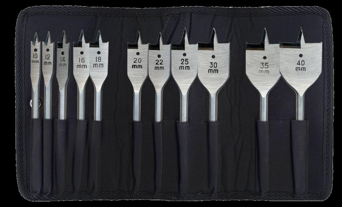 Набор перовых свёрл Heller (10,12,14,16,18,20,22,25,30,35,40мм) (11 пр.)