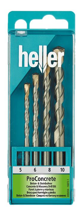 Набор свёрл Heller по бетону Heller ProConcrete (5,6,8,10 мм) (4 пр.)