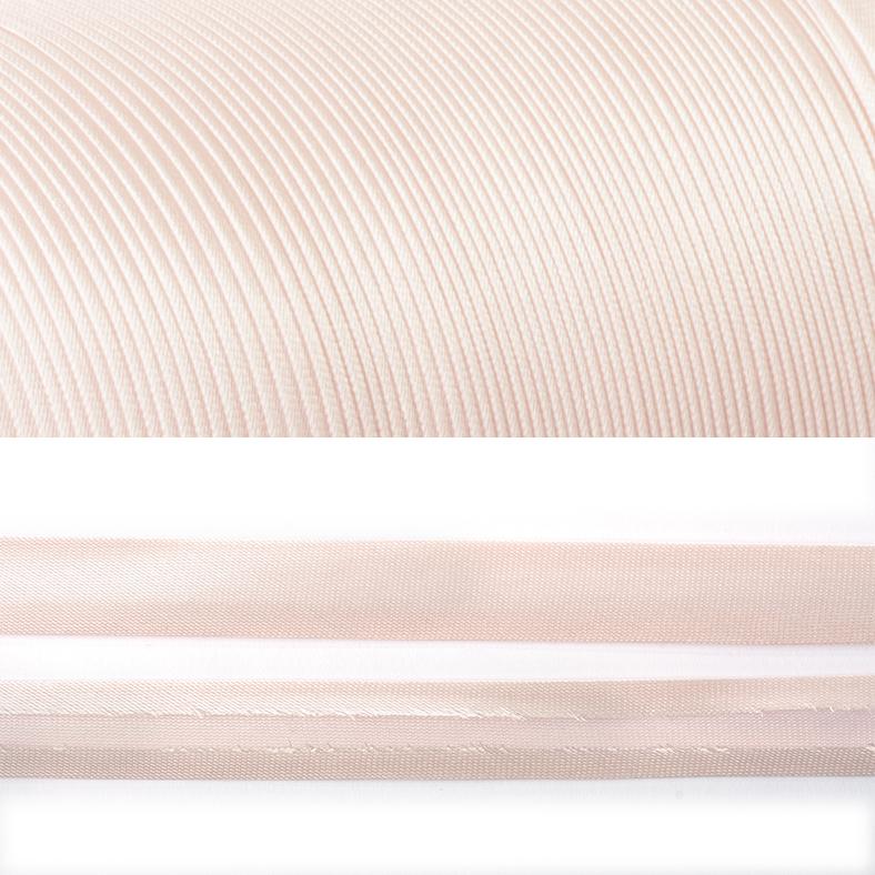 Фото Косая бейка TBY атласная однотонная, 15 мм разные цвета КБА.15.132 пастельно-розовый