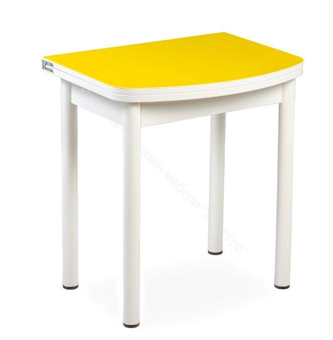 "Стол раскладной ""СПГ-02"" СТ2 (Жёлтое стекло/Опоры белые)"