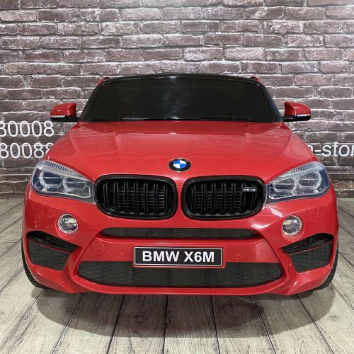 Детский электромобиль BMW X6M (JJ2168) красный двухместный