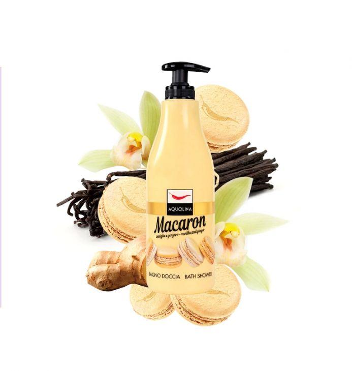AQUOLINA macaron гель для душа с ванилью и имбирем 500 мл