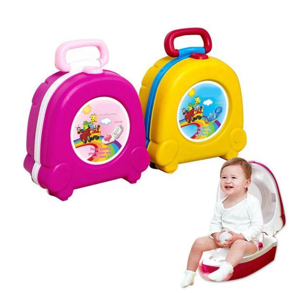 Портативный складной детский горшок-чемоданчик The Handy Potty