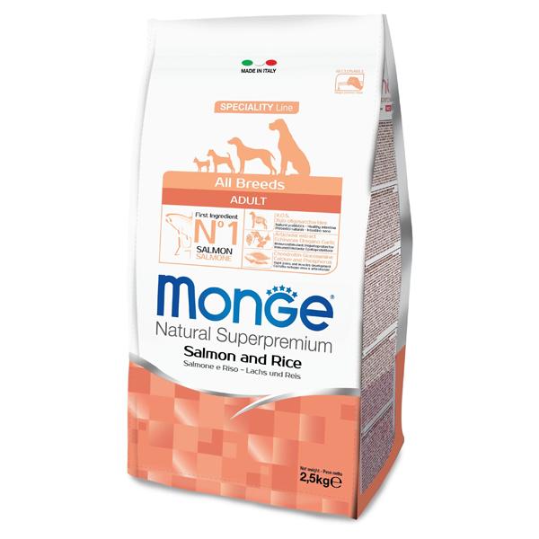 Сухой корм для собак Monge Speciality line лосось с рисом