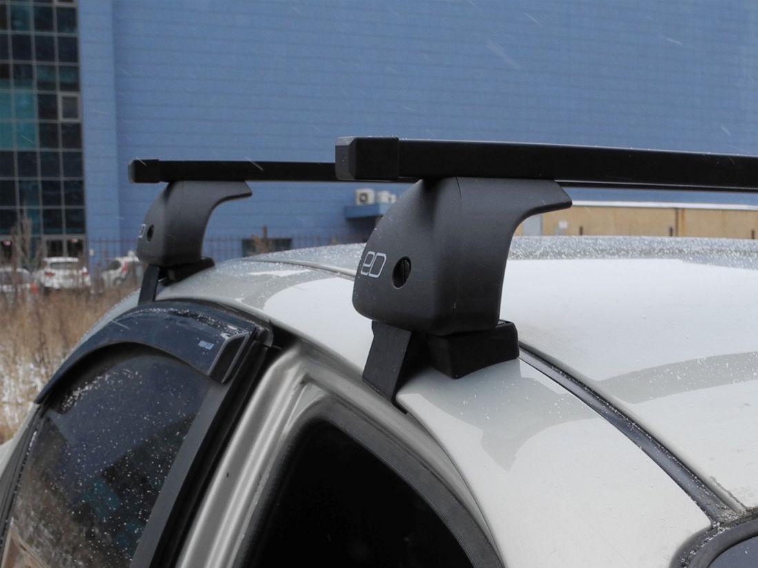 Багажник на крышу Nissan Qashqai 2013-..., Евродеталь, стальные прямоугольные дуги