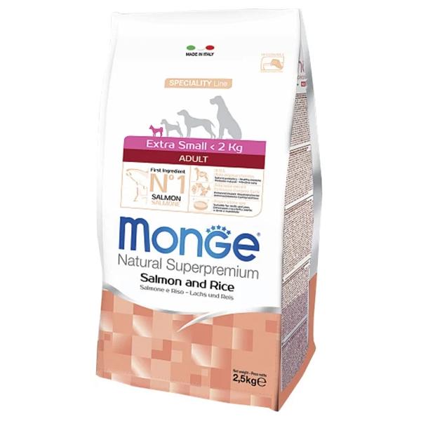 Сухой корм для собак карликовых пород Monge Daily Line Extra Small лососем и рисом 2.5 кг