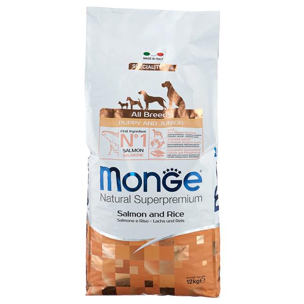 Сухой корм для щенков Monge Speciality line Puppy and Junior с лососем и рисом 12 кг