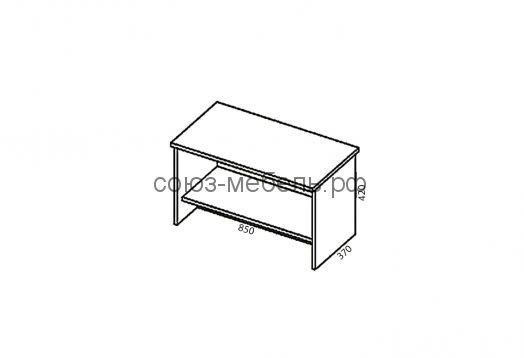 Гостиничная мебель Вояж (зеркало Z1+вешалка ВШ+тумба ПБ+шкаф ШК1+стол СХ+тумба ТЯ+кровать КР 0,9x2,0+полка ПН+кровать КР 0,9x2,0+тумба ТЯ+полка ПН)