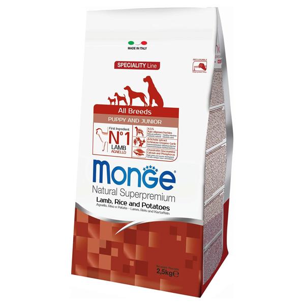 Сухой корм для щенков Monge Speciality line Puppy and Junior с ягненком и рисом 2.5 кг