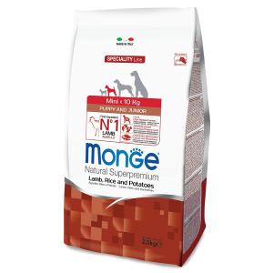 Сухой корм для щенков мелких пород Monge Speciality Line Puppy and Junior с ягненком рисом и картофелем 2.5 кг