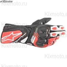 Перчатки Alpinestars SP-8 V3, Черно-бело-красные
