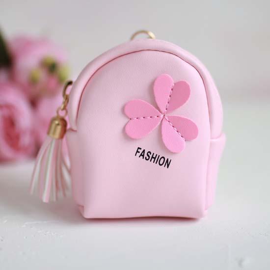 Рюкзак для куклы, Три сердечка, розовый, 10 см.