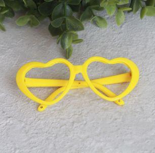 Кукольный аксессуар - Очки желтые без стекла, 8 см.