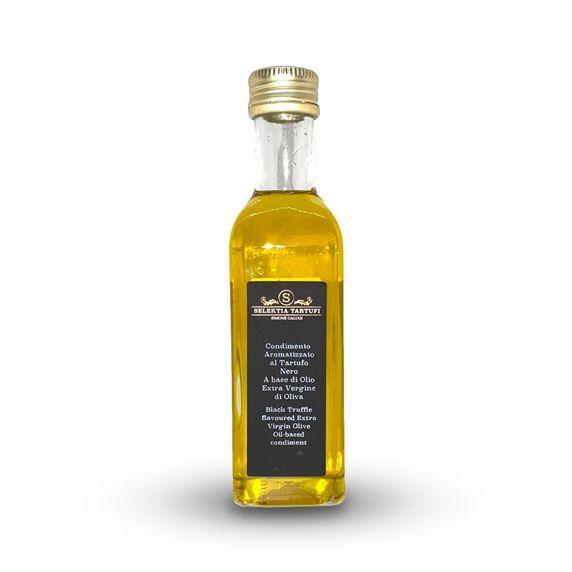 Масло оливковое экстра верджине с ароматом черного трюфеля 250 мл. Olio EVO aromatizzato al tartufo nero, Selektia Tartufi 250 ml