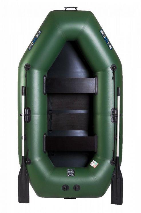 Лодка Aqua-Storm SS280R-40 ПС Зеленая (без транца)