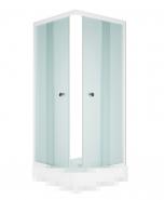 Душевой уголок MELODIA Square 90x90 без поддона, матовое стекло