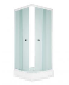 Душевой уголок MELODIA Square 80x80 без поддона, матовое стекло