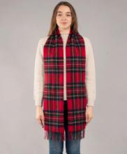 """Большой теплый шотландский шарф 100% шерсть ягнёнка. Дарвин """"Королевский Стюарт"""" DARWIN ROYAL STEWART LUXURY OVERSIZED LAMBSWOOL SCARF плотность 6."""