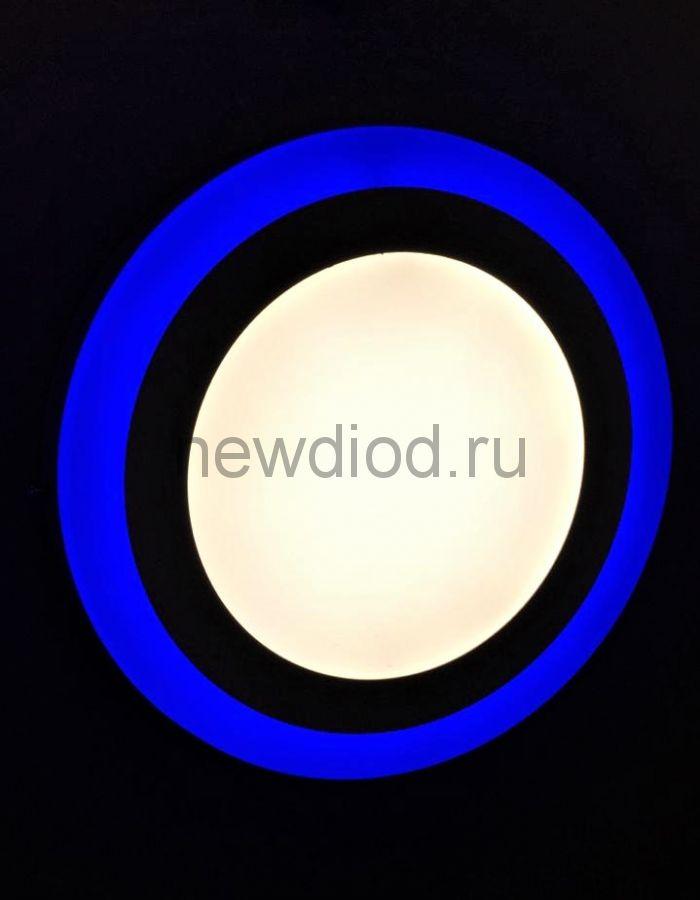 Светильник накладной Sirius 6W+3W-3м² 105/145mm синий КРУГ Oreol (40/кор)