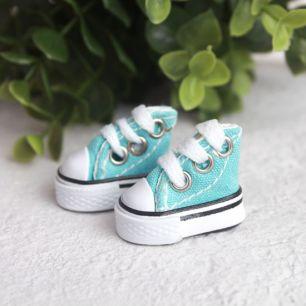 Обувь для кукол - кеды 3,5 см - мятные
