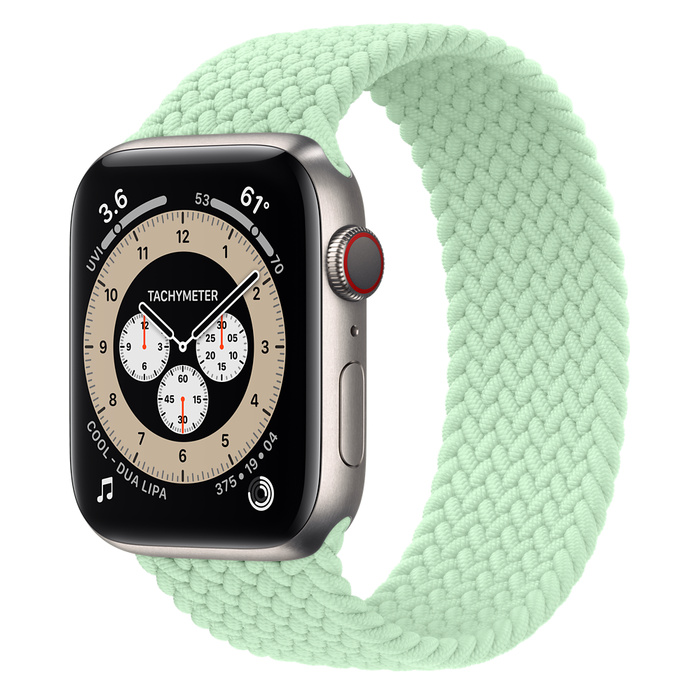 Часы Apple Watch Edition Series 6 GPS + Cellular 44mm Titanium Case with Pistachio Braided Solo Loop
