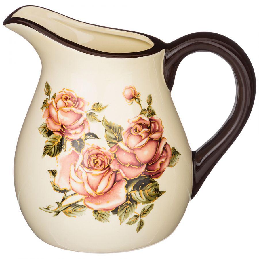 """Кувшин """"Корейская роза"""" 18x13 см. h=16.5 см. / 1150 мл."""